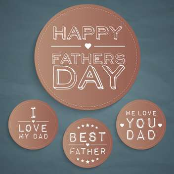 happy father's day labels set - Kostenloses vector #134430