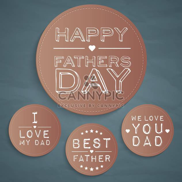 happy father's day labels set - Free vector #134430