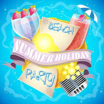 summer holiday vacation background - vector #134480 gratis