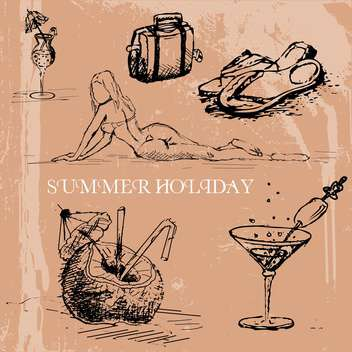 summer sketch art background - vector #134490 gratis