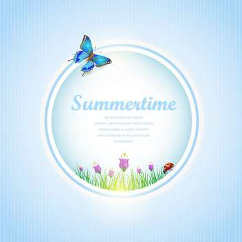 abstract summertime banner background - vector gratuit #134530