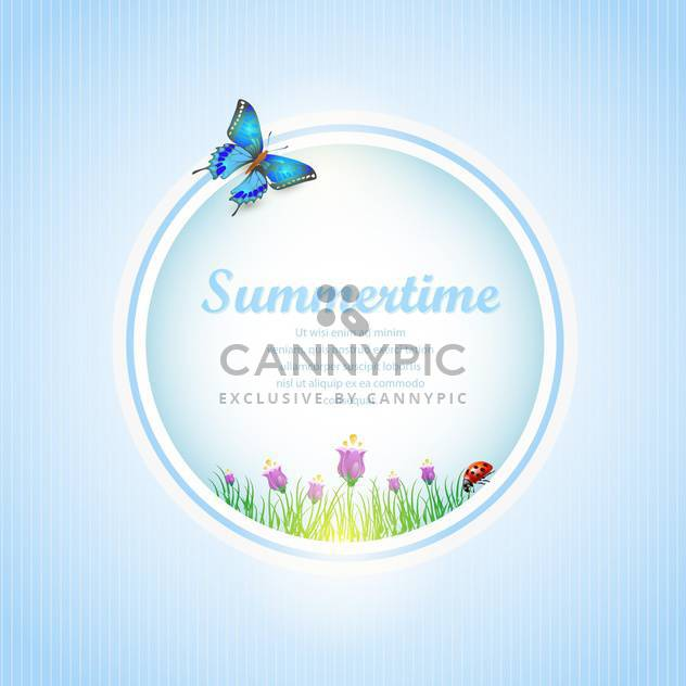 abstract summertime banner background - Free vector #134530
