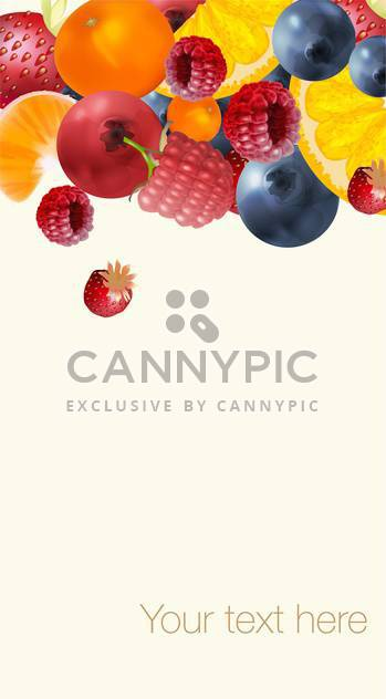 ripe summer tasty berries background - Free vector #134550