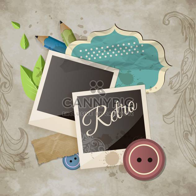 vintage scrapbook template background - Free vector #134600