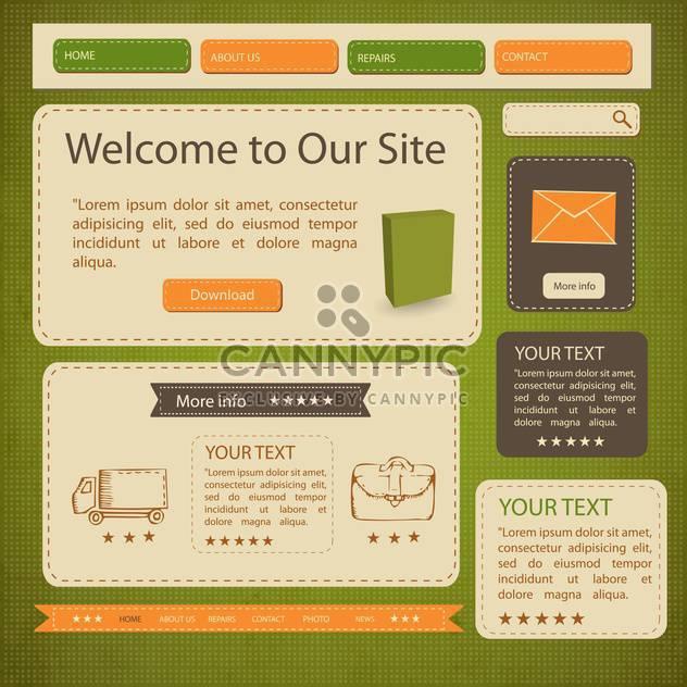 abstrakte Webseite Vorlagen Hintergrund - Free vector #134610