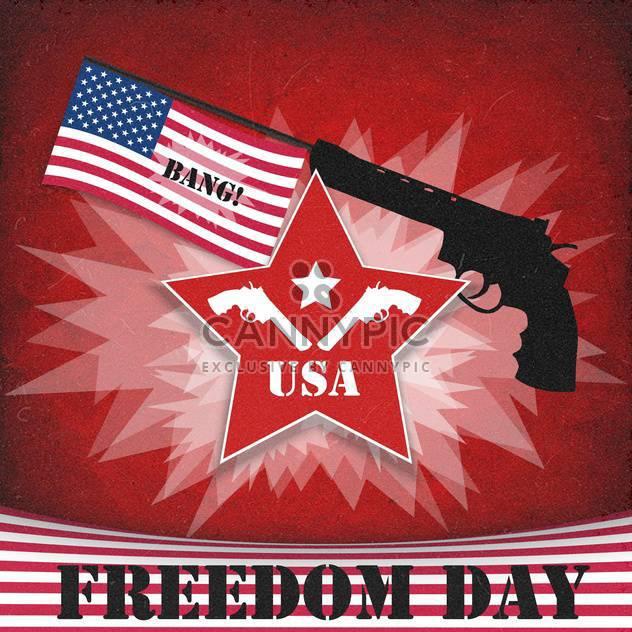 Freiheit Tag Jahrgang amerikanischen Hintergrund - Kostenloses vector #134640