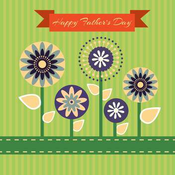 happy fathers day vintage card - vector gratuit #134650
