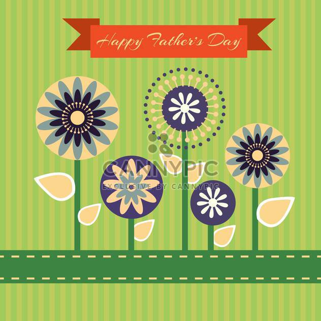 happy fathers day vintage card - Free vector #134650