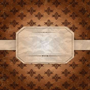 vintage label blank background - vector gratuit #134720