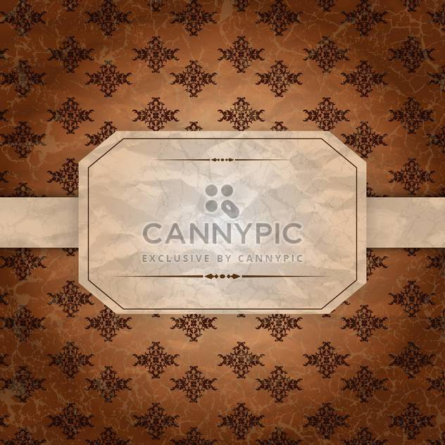 vintage label blank background - Free vector #134720