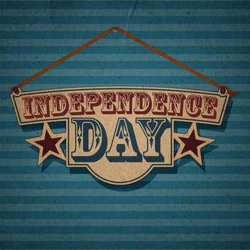 vintage vector independence day background - Free vector #134740
