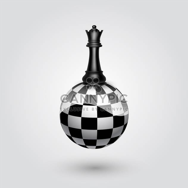 black king chessman on abstract sphere vector illustration - Free vector #134790
