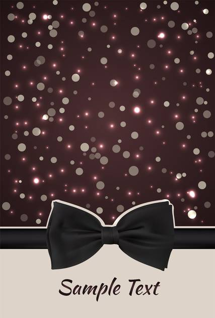 ribbon with bow and christmas abstract background - Kostenloses vector #134860