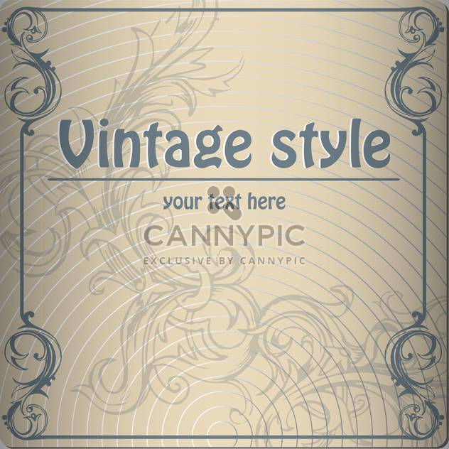 vector vintage abstract background - Free vector #134910