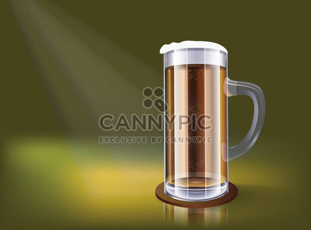 excellent glass of beer illustration - Free vector #134930