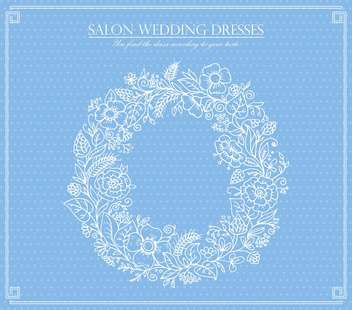 salon wedding dresses card background - Free vector #135030