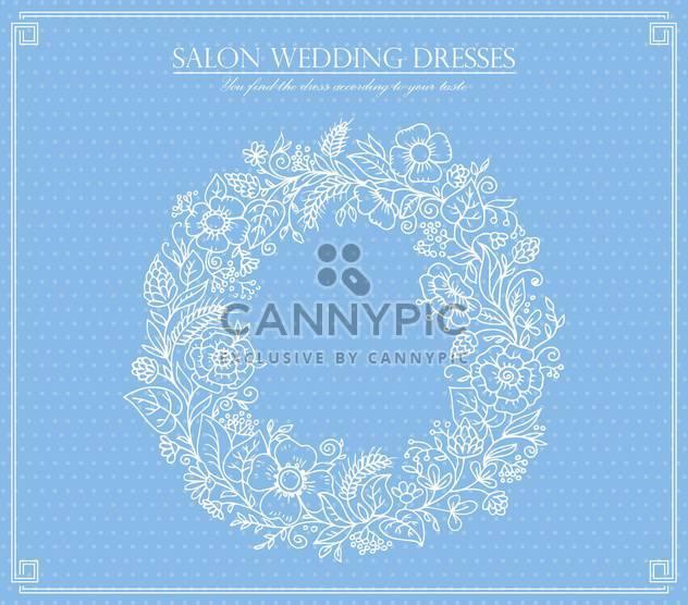 salon wedding dresses card background - Free vector #135030