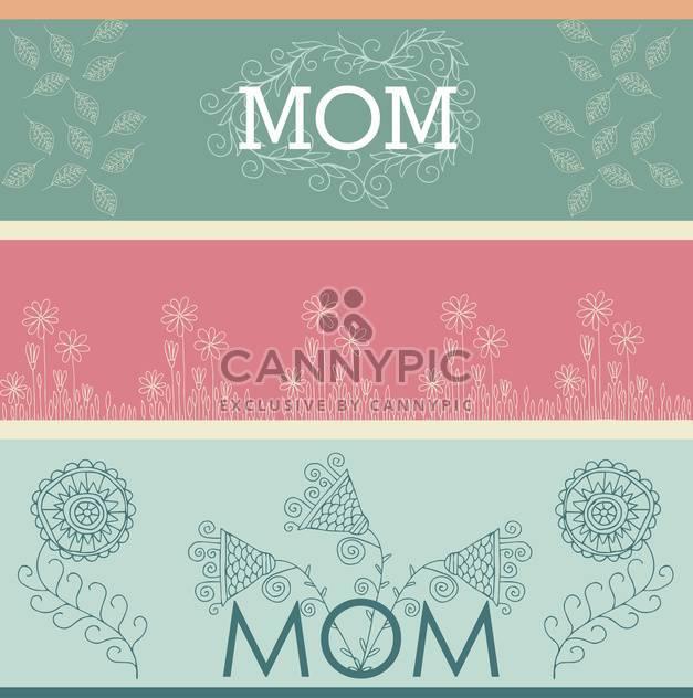 Banner mit Frühlingsblumen Gruß zum Muttertag - Kostenloses vector #135040