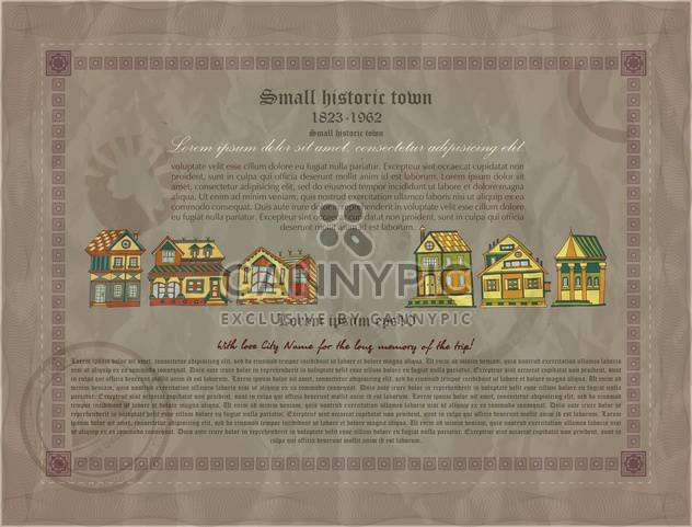 retro document of small historic town - Free vector #135130