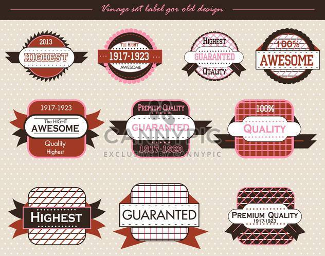 vintage vector labels and badges background - Free vector #135140