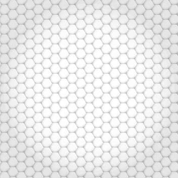 Vector abstract background made of white hexagons - vector gratuit #125890