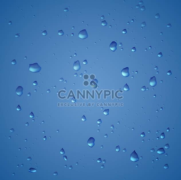 Blue abstract background with water drops - Free vector #125940
