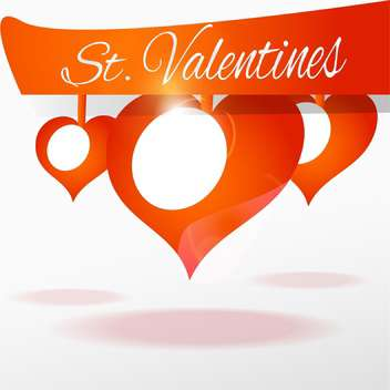 Vector background with hearts for valentine card - vector #126020 gratis