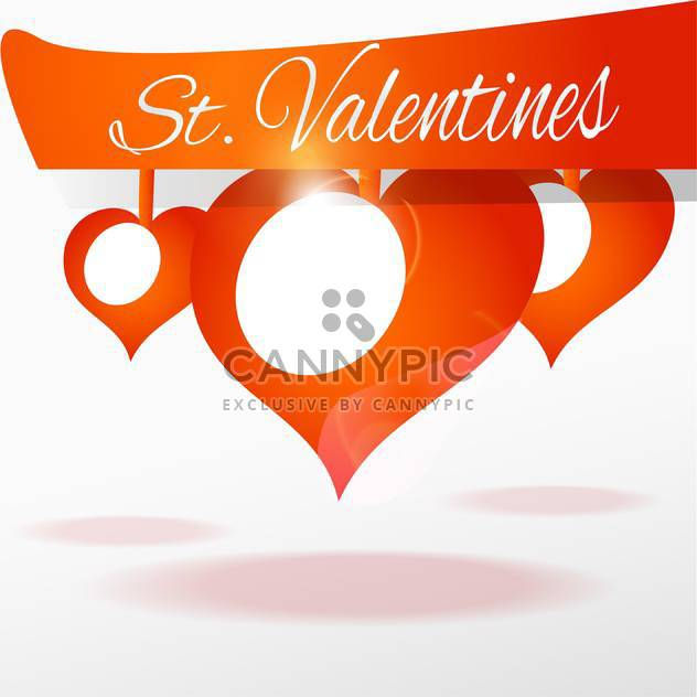 Vector background with hearts for valentine card - Free vector #126020