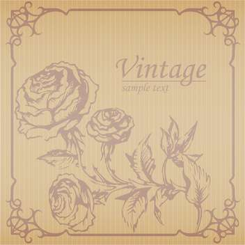 Vector vintage floral brown background with text place - vector gratuit #126210