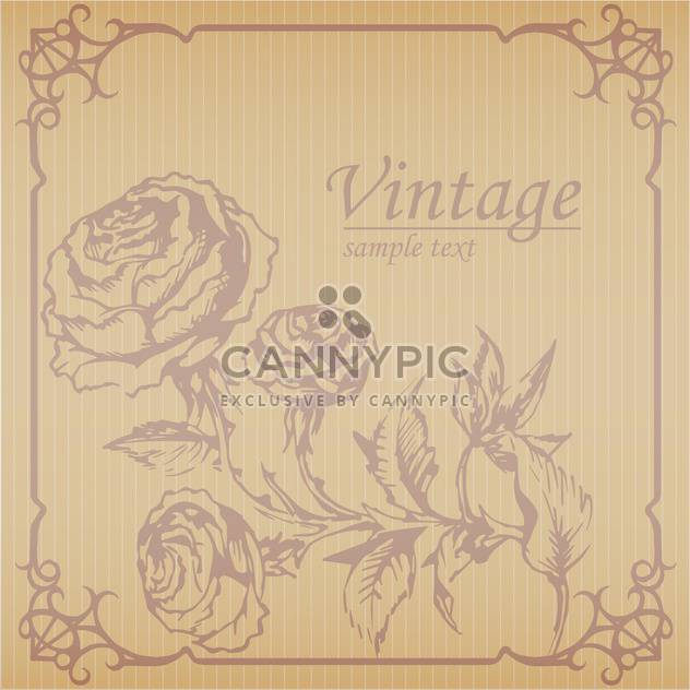 Vintage floral marrom de fundo Vector com texto local - Free vector #126210