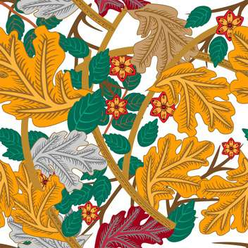 Vector floral background with beautiful ornate leaves on white background - Free vector #126230