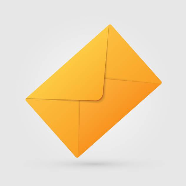 Vector illustration of yellow envelope on white background - Free vector #126250