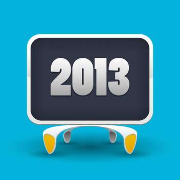 Vector illustration of board with number of new year 2013 on blue background - Free vector #126340