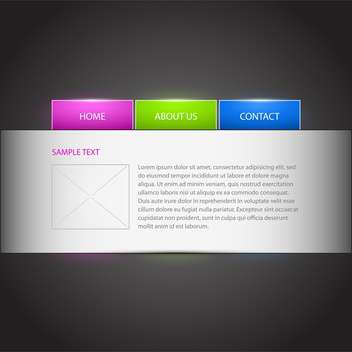Vector illustration of web site template with text place - vector #126410 gratis