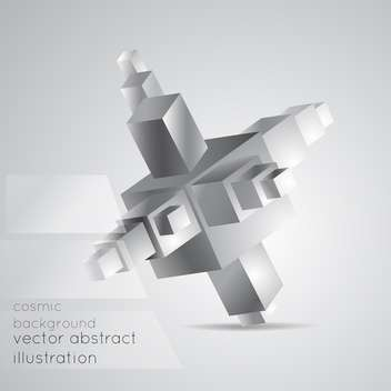 Vector illustration of abstract geometric background from cubes on grey background - Free vector #126420