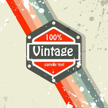 Vector retro background with text place and paint signs - vector gratuit #126470
