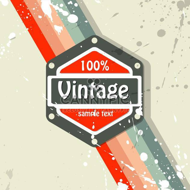 Vector retro background with text place and paint signs - Free vector #126470