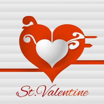 Vector background for Valentine's day card with heart - vector #126530 gratis