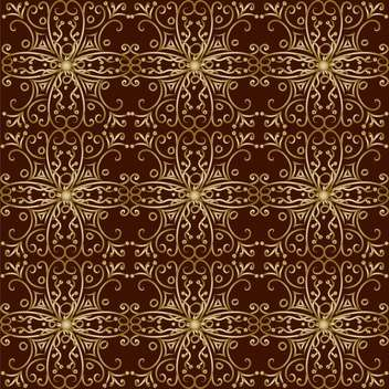 Vector illustration of vintage background with golden pattern on brown background - бесплатный vector #126610