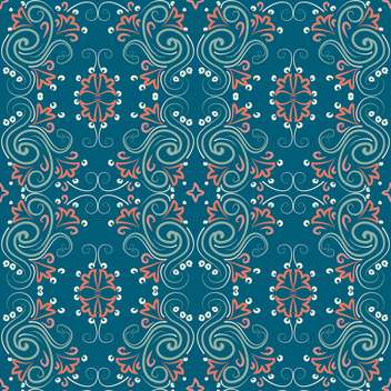 Vector vintage background with floral art pattern - бесплатный vector #126760