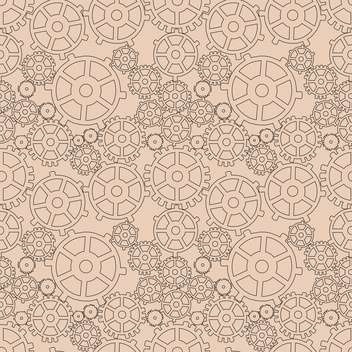 Vector illustration of abstract mechanical background with gears - vector gratuit #126800