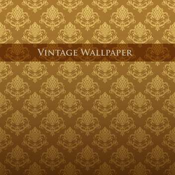 Vector colorful vintage wallpaper with floral pattern - бесплатный vector #126820