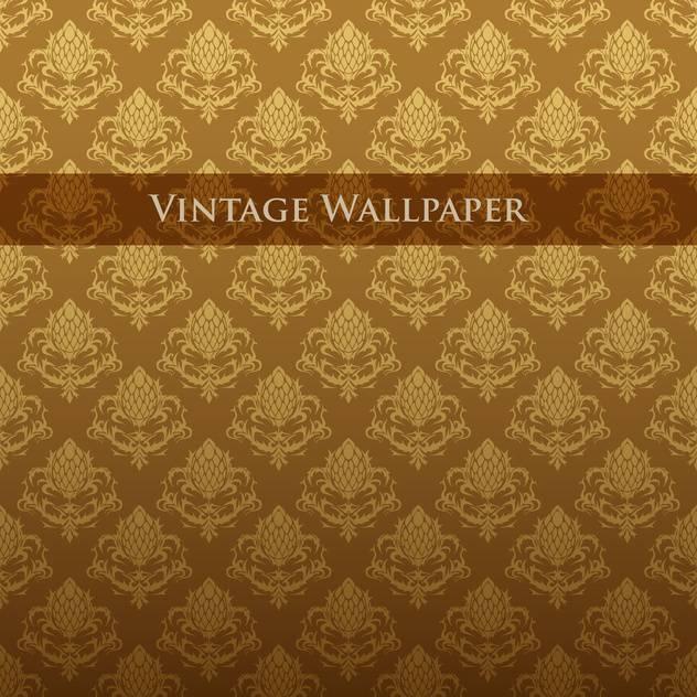 vektor bunt vintage tapete mit blumenmuster kostenloser vektor download 126820 cannypic. Black Bedroom Furniture Sets. Home Design Ideas
