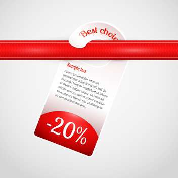 vector mark with best choice message on white background - vector #126840 gratis