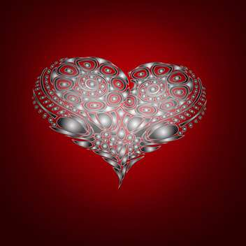 Vector background with abstract heart for valentine card - vector #126860 gratis