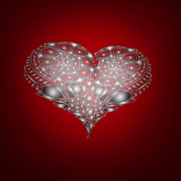 Vector background with abstract heart for valentine card - Free vector #126860