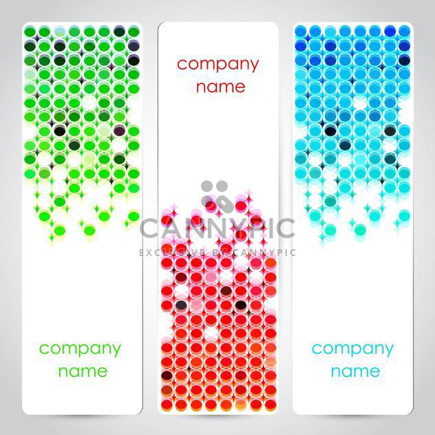 Vector set of colored banners with text place - Free vector #126920