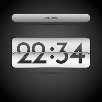 Vector illustration of countdown counter on dark background - бесплатный vector #126930