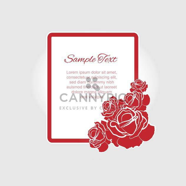 Vector floral frame with red roses and text place - Free vector #127090