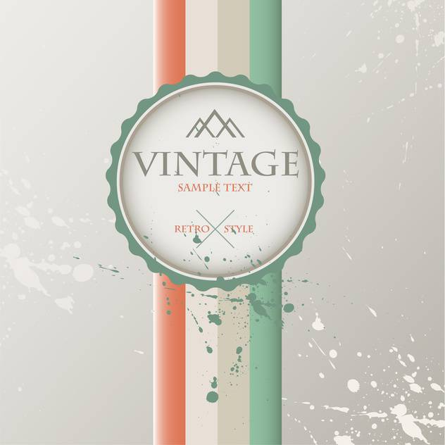 Vintage art background with label for text place - vector #127170 gratis